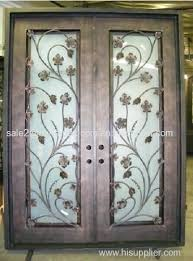 wrought iron door inserts noteworthy stained glass