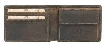 <b>Бумажник Klondike John</b> (11,5х9 см) кожа, темно-<b>коричневый</b>