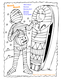 Small Picture Mummy Knock Knock Joke Coloring Page More fun Halloween pages at