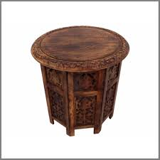 best the urban port brown wooden hand carved folding accent coffee table japanese hand carved coffee