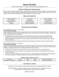 Professional Areas Of Expertise Of Product Manager Resume Sample