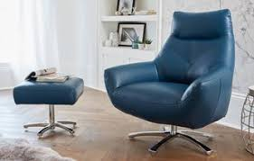 blue leather chair. Orzo Swivel Chair New Club Blue Leather