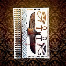 6051 руб новая мода египетский фараон золотая татуировка искусство тела наклейки