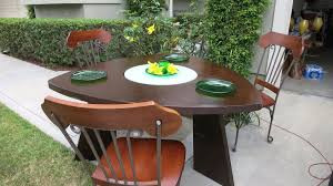Triangular Kitchen Table Sets Triangular Dining Table Set