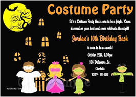 Halloween Costume Party Invitations 20 Halloween Birthday