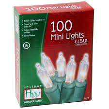 100 Count Mini Lights Noma Inliten Holiday Wonderland 100 Count Clear Christmas