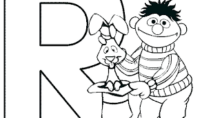 Ernie Coloring Pages And Coloring Pages Sesame Street Rabbit To