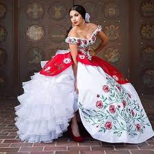 mexican wedding dress. find more quinceanera dresses information about hot sale white and red\u2026 gorgeous dressbeautiful dressesmexican wedding mexican dress