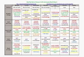 insanity max 30 meal plan week of february 9th 2016