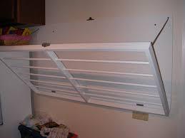 ... wall mounted laundry rack. We ...