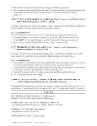 Industrial Engineer Sample Resume Industrial Engineer Resume ...