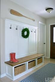 Diy Entryway Bench With Coat Rack Simple DIY Entryway Mudroom Reveal In 32 Home Decor Pics And Do It