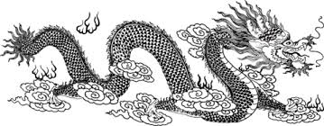 Chinese Dragon In Clouds Coloring Page Free Printable Coloring Pages