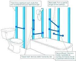 ada shower grab bar height shower grab bar shower grab bar installation where to put bars