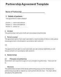 Strategic Partnership Agreement Template Sample Business Free Simple