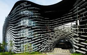 Taiwanese research institute is wrapped in an undulating skin of 4,000  aluminum fins