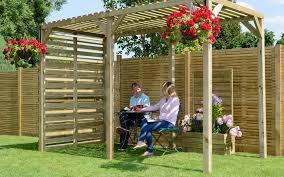 urban wooden pergola