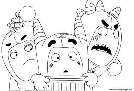 You can find so many unique, cute and complicated pictures for children of all ages as well as many g. Oddbods Coloring Pages Coloring Home