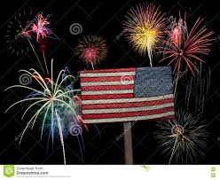 Usa American Flag And Fireworks For 4th Of July Stock Image