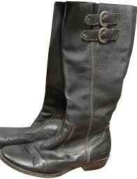 b o c black leather with brown stitching boots image 0