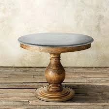 48 inch pedestal dining table round with top in natural