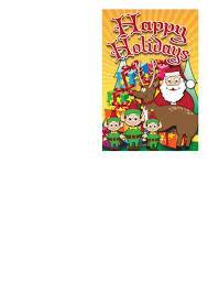 Santa Reindeer Christmas Card Template Printable Pdf Download