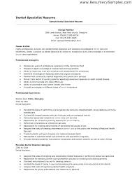 Resume Examples For Dental Assistants No Experience Resume Example