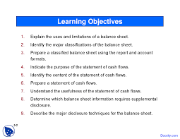 Detailed Classified Balance Sheet Balance Sheet And Statement Of Cash Flows Intermediate