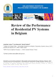 Global Solar Electric Potential A Review Of Their Technical And