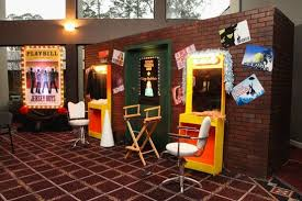 broadway themed party room decor and