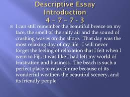 descriptive essay introduction descriptive essay beginning writing ppt download