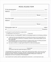 Photographer Release Form Template Luxury Sample Graphy