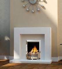 belgrade polar white micro marble fireplace