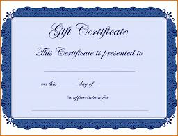 Gift Card Samples Free 24 Gift Certificate Template Free Itinerary Template Sample 8