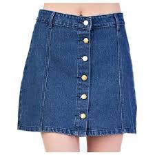 Mittoshop Womens Button Down Mini Skirt