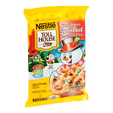 nestle christmas cookies.  Christmas Nestl Toll House Christmas Swirled Chocolate Chip Cookie Dough Reviews To Nestle Cookies T