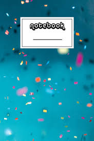 Notebook Confetti Party Notebook Beautiful 100 Page