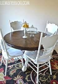 antique oval oak dining table and chairs. i could do this with my round table. antique oval oak dining table and chairs