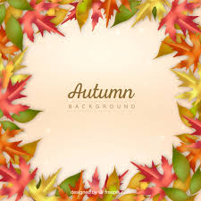 abstract autumn frame background free vector