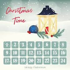 christmas calendar background. Interesting Background Christmas Advent Calendar Background Poster With Lantern Firtree And  Ball On Calendar Background