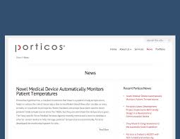 Porticos Press Releases Spreading The Word About Innovation