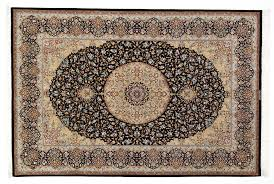 8x5 burdy colored qom silk persian rugs pure silk qum persian carpet with dark blue