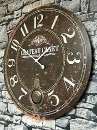 vintage style wall clock shabby chic