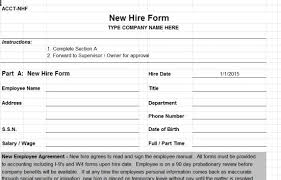 Employee New Hire Forms Free New Hire Template Rome Fontanacountryinn Com