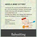 Babysitting Ads Basitting Flyers And Ideas 16 Free Templates Babysitting Ads Samples