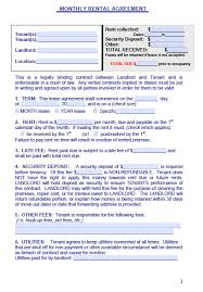 Free Rental Agreement Free Maine Monthly Rental Agreement Form PDF Template 22