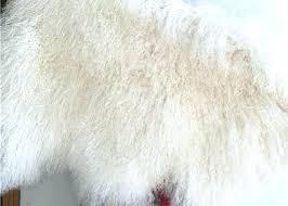mongolian fur area rug lambskin throw sheepskin natural long hair cream white curly bedrooms ideas images faux mongolian sheepskin rug