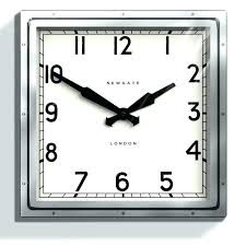 black glass wall clock large glass wall clock this square quad wall clock is polished chrome black glass wall clock