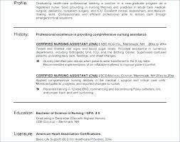 Cna Resume Objective Statement Examples Resume Resume Format ...