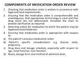 Components Of Patient Medication Chart Clinical Pharmacy Services